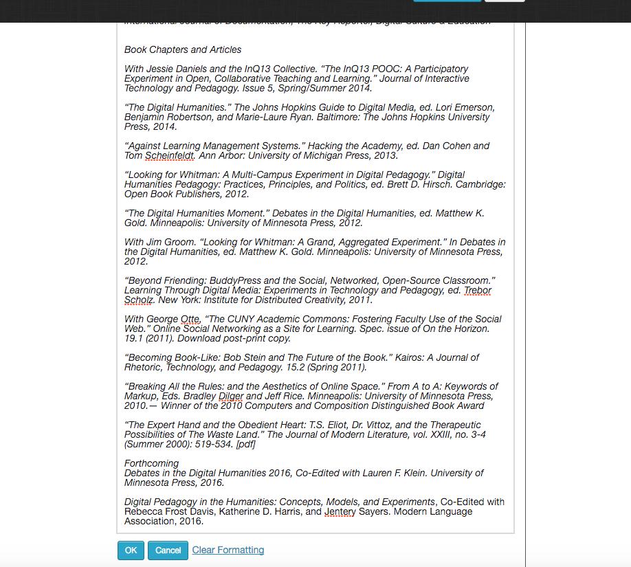 9f528881e3a3 Bug  4405  New portfolio text not saving - CUNY Academic Commons ...